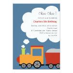 Birthday Train Party Invitation Custom Invitations
