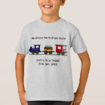 """Birthday Train Shirt<br><div class=""""desc"""">Customize this design by adding your own text to the shirt.  Perfect for that train-crazy kid!</div>"""