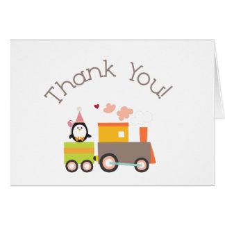 Birthday Train Thank You card