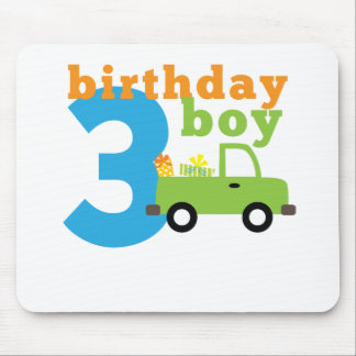 Birthday Truck boy 3 Mouse Pad