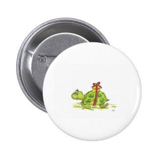 Birthday Turtle Pinback Buttons