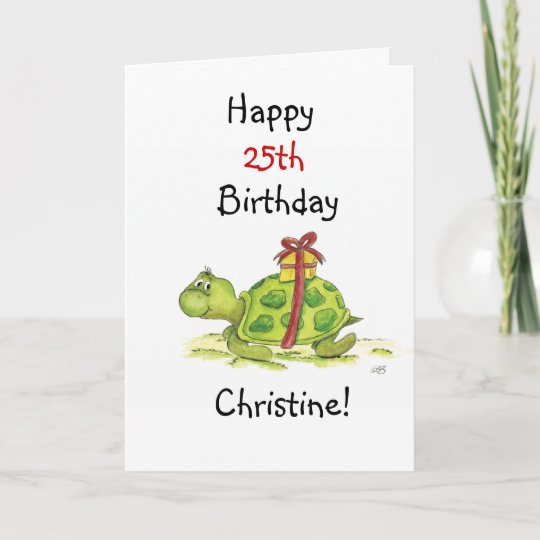 Birthday Turtle Customize The Age And Name Card Zazzle