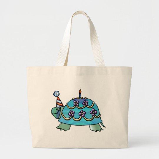 Birthday Turtle Large Tote Bag