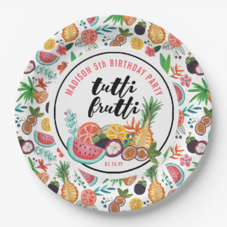 Birthday | Tutti Frutti | Paper Party Plate
