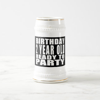 Birthday Two Year Old Ready to Party Beer Stein
