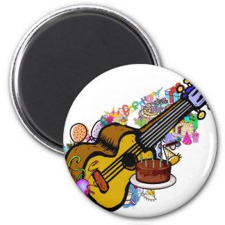 birthday uke 2 inch round magnet