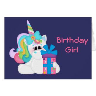Birthday Unicorn (customizable) Card