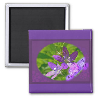 Birthday Venus Looking Glass Wildflower Floral 2 Inch Square Magnet