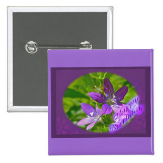 Birthday Venus Looking Glass Wildflower Floral Button