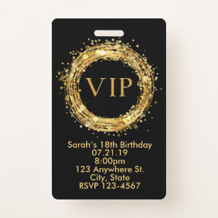 Vip Pass Invitations Zazzle