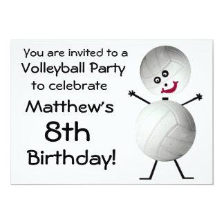 Birthday Volleyball Party Invitation