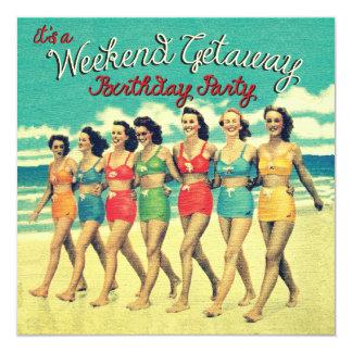 Birthday Weekend Getaway Party Invitations