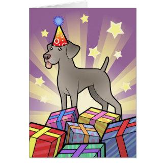 Birthday Weimaraner Card