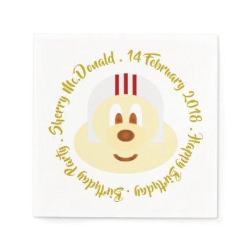 Wedding Themed Birthday - White Helmet 鮑 鮑 Paper Napkin