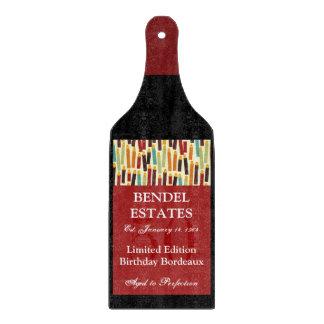 Birthday Wine Bottle Glass Cutting Board