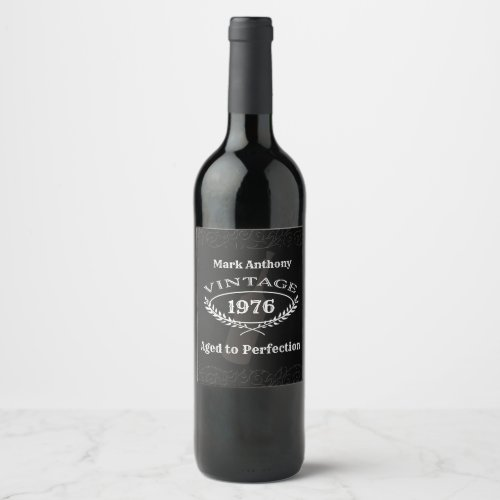 Birthday Wine Label _ Aged to Perfection
