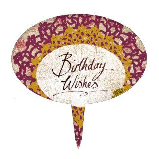 Birthday Wishes #2 Cake Picks