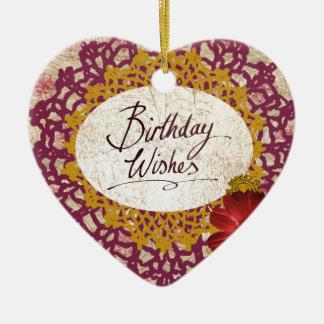 Birthday Wishes #2 Ceramic Ornament
