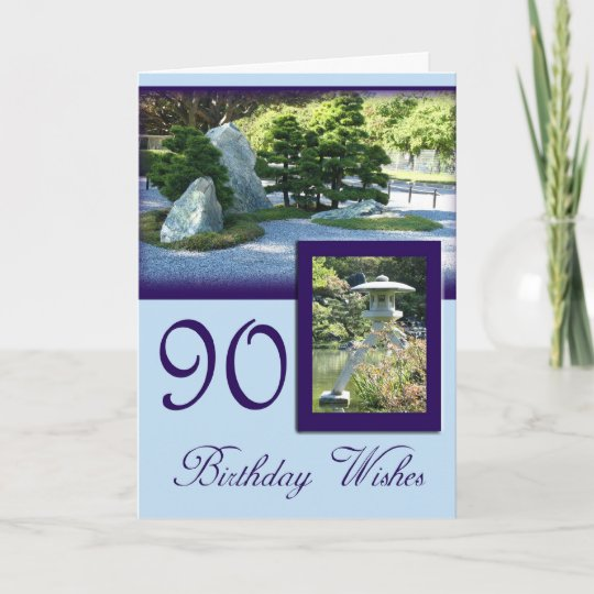 Birthday Wishes 90th Greeting Card