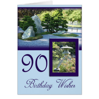 Birthday Wishes 90th Birthday Greeting Card