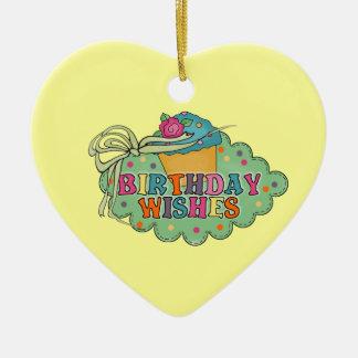 Birthday Wishes Ceramic Ornament