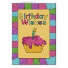Birthday Wishes Cupcake Birthday Card