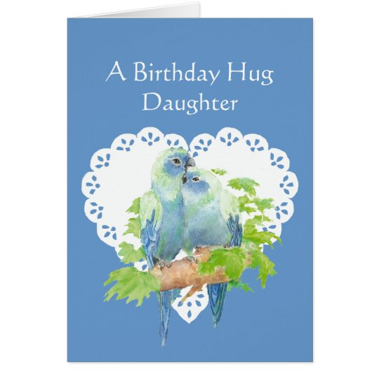 Birthday Wishes Daughter from Mother Parrot Bird Card