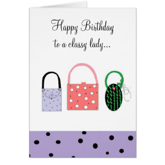 Birthday Wishes For A Classy Lady Card