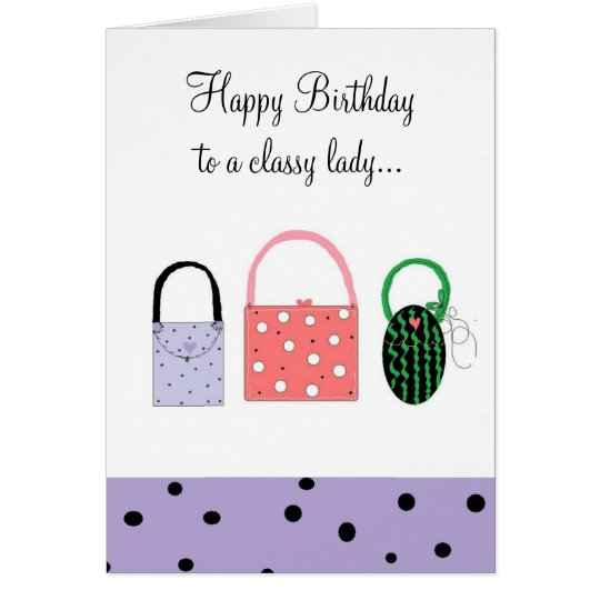 Birthday Wishes For A Classy Lady Card – Lady Birthday Card