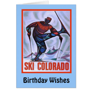 Birthday Wishes, GSki Colorado Card