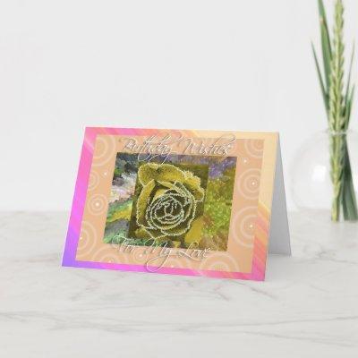 Birthday Wishes My Love Card