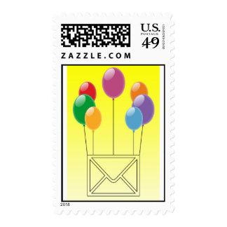 Birthday wishes postage stamp