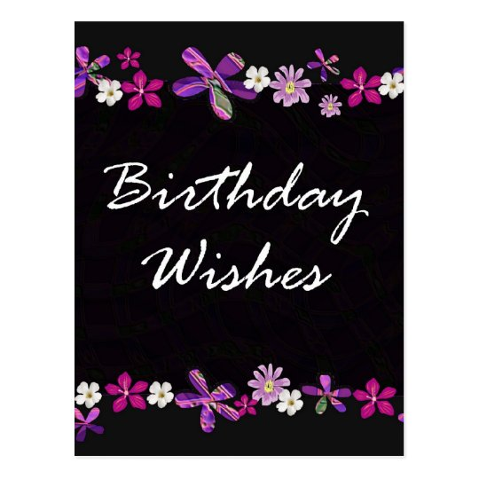 Birthday Wishes Postcard