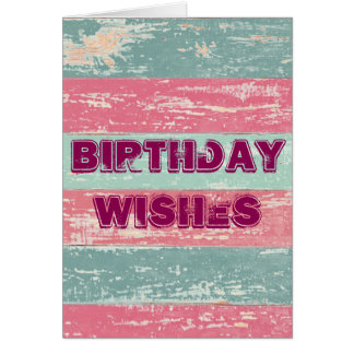 Birthday Wishes Rustic Fence Card