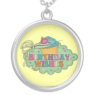 Birthday Wishes Silver Plated Necklace