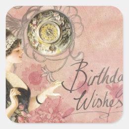 Birthday Wishes Square Sticker