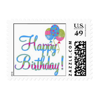 Birthday Wishes Stamp