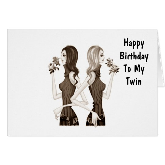 BIRTHDAY WISHES TO MY TWIN SISTER CARD – Twin Sister Birthday Card