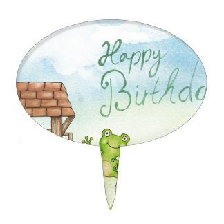 Birthday Wishing Well Cake Toppers
