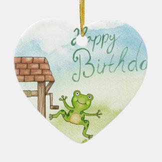 Birthday Wishing Well Ceramic Ornament