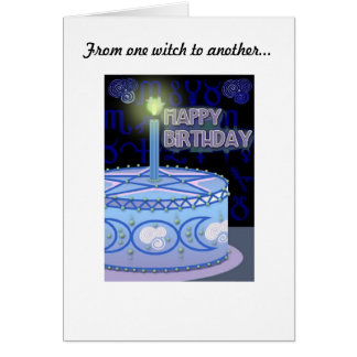 Birthday Witches birthday card