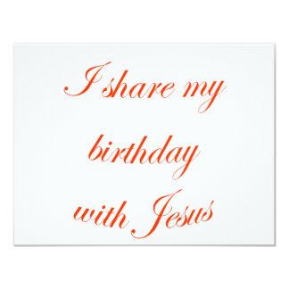 Birthday with Jesus Card