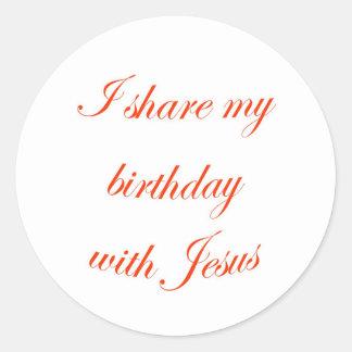 Birthday with Jesus Stickers