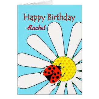 Birthday with Ladybug and Daisy, Custom Front Card