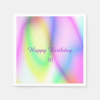 Birthday,wonderful Gradients 01soft Disposable Napkins