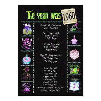 Birthday Year 1960 Invitation