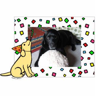 Birthday Yellow Labrador Cartoon Photo Frame Cutout