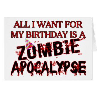 Birthday Zombie Apocalypse Greeting Cards