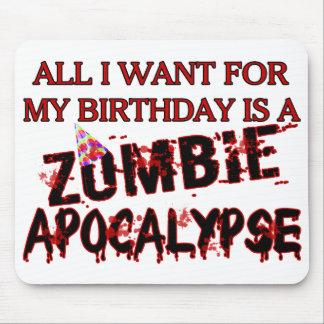 Birthday Zombie Apocalypse Mouse Pad