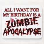 Birthday Zombie Apocalypse Mouse Pads